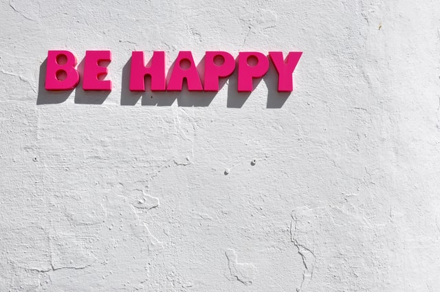 Sign that says Be Happy